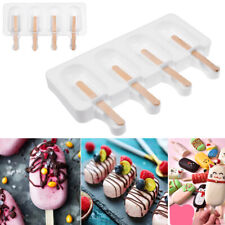 4 Cavity Large Ice Lolly Cream Maker Mold Popsicle Mould Frozen Yogurt Icebox