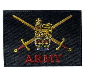 British Army Crest tactical Hook and loop backing badge patch
