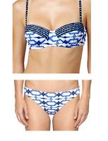 NWT MICHAEL KORS Women Swimwear Swim Suit Two Pieces Bikini 2 PC Blue XS S M L