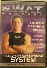 SWAT exercise fitness DVD lot 5 complete workout system strength weight loss abs