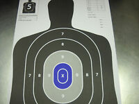 25 Blue & Black Silhouette hand gun, rifle paper shooting targets 12X18
