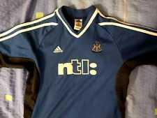 Newcastle United 2001/2002 Away Camiseta De Fútbol Maglia Jersey Niños Adidas Talla L