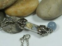 Anxiety Necklace Witchcraft Spell Aquamarine Necklace Wiccan Jewelry Pagan Wicca