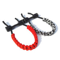 Archery Compound Bow Wrist Sling Braided Cord Rope Adjustable Hunting Strap