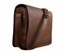 New Men's Handmade Genuine Vintage Leather Messenger Bag Shoulder Laptop Bag