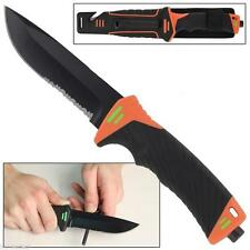 Survival Outdoor Camping Fixed Blade Knife Fire Starter Sharpener EDC BUG OUT