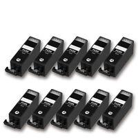10 kompatible Patrone für CANON Pixma IP4820 IP4840 IP4850 PGI525PGBK (schwarz)