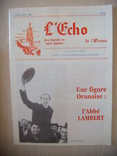 Algérie, Oran: Revue L'Echo de l'Oranie, N° 215: 07-08/1991, BE