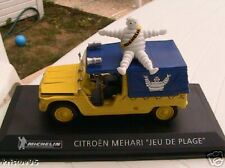 CITROEN MEHARI JEU DE PLAGE MICHELIN 1/43 JAUNE & BLEU