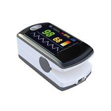 Saturimetro pulsossimetro da dito con connessione a PC display a colori SAT-300