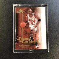 MICHAEL JORDAN 2003 UPPER DECK MVP #MJ7 A TRIBUTE TO GREATNESS GOLD FOIL INSERT