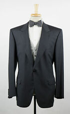 New. BRIONI Charcoal Gray Herringbone Wool 3 Piece Morning Suit 56/46 R $5195