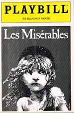 Les Miserables Playbill Original Broadway Cast Terence Mann Colm Wilkinson