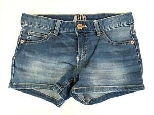 Justice Girl's Jean Shorts Blue 30in Waist