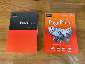 Serif Pageplus X5 desktop publishing user guide and DVD rom
