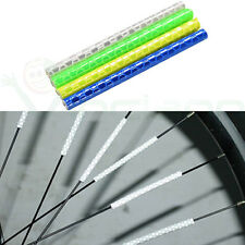 12x Barre catarifrangente per ruota bicicletta bici raggi riflettente notte buio