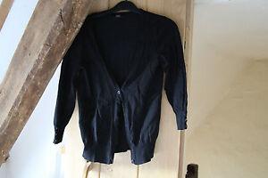 F & F Ladies Black Cardigan/ top size approx 8