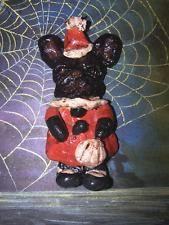 Folk Art French Bull dog Bulldog  Halloween Ornament Girl  Vintage Style New