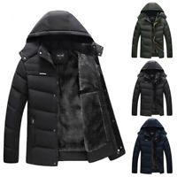 Men's Cotton Padded Puffer Jacket Coat Parka Autumn Winter Warm Overcoat Outwear