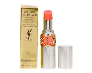 YSL Lipstick Balm Coral Volupte Tint-In-Balm 7 Flirt Me Coral Moisture Lip Stick