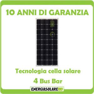 Pannello Solare Fotovoltaico 100W 12V Monocristallino Batteria Barca Camper Auto