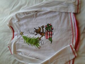 Hanna Andersson Christmas Outfit Shirt & Leggings size 140  US 10 Max Grinch