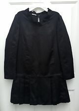 MIU MIU Black Drop Waist Dress w/ Pleats 100% Silk IT 40 US 2 - 4 EUC