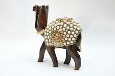 Handmade Solid Wooden Camel stonework India Idol Painting Home Decorative Gift