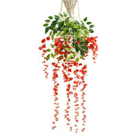 1 pc Artificial Wisteria Hanging Flower Home Wedding Decoration Long 6 Colors