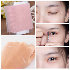 100Pcs Invisible Fiber Double Eyelid Adhesive Sticker Tape Technical Eye Tapes