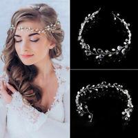 Accessories Wedding Hair Vine Headwear Bride Crystal Headbands Pearl Rhinestone