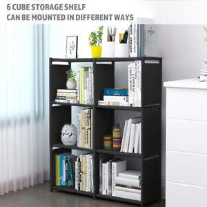 6 Cube Storage Shelf Rack Bookcase Bookshelf Cabinet Craft Colthes Display Unit