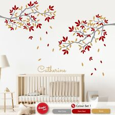 Tree Branches Wall Decal Personalised Childrens Nursery Wall Art Vinyl Sticker