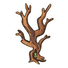 ID 0867 Scary Forest Tree Patch Halloween Eyes Woods Embroidered IronOn Applique