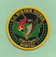 C34 * 1984 USB BORTAC OLYMPICS BORDER FEDERAL TASKFORCE AGENCY POLICE PATCH SWAT