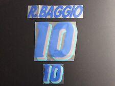 FIFA WORLD CUP 1994 Italy 10 R. BAGGIO Away Felt Name Set