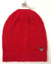 new$25 Womens DISNEY PARKS MICKEY MOUSE BEANIE Fuzzy Marled Red Winter Knit Hat
