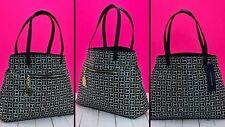 Tommy Hilfiger Purse Womens Shopper Tote Handbag Jacquard Th Pattern New NWT