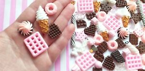 5/10/20/50pc CHOCO strawberry candy cabochons DECODEN sweets Fake candy cabs