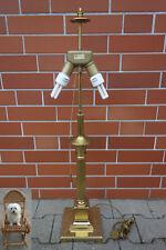 92 cm Lampe B & M Messing 3,5 kg Leuchter mit Zugschalter Stehlampe Lampenfuß