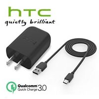 HTC 10 Rapid Charger + USB Type-C Cable 18W Quick Charge 3.0 Certified Original