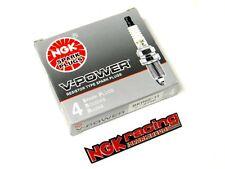 90-93 MAZDA MIATA 1.6L NGK RACING V-POWER SPARK PLUGS - FREE NGK EMBLEM