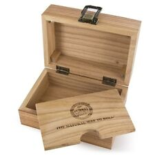 RAW ROLLING PAPERS WOODEN SMOKERS STORAGE BOX - SMOKERS KIT - CIGARETTE BOX