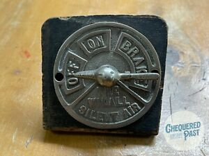 """Vintage 'THE WILALL SILENT AIR"""" Train Brake Control Switch Lever Locomotive Rail"""