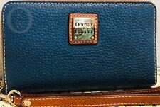 NIB*Dooney & Bourke*Pebble* Leather*Jeans/Denim*Zip Around Wallet/Wristlet