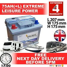 75 ah (+L) 70 60 amp ah Leisure Battery Low Height maintenance free sealed