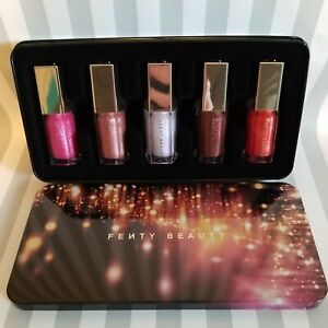 FENTY BEAUTY RIHANNNA GLOSSY POSSE GLOSS BOMB COLLECTION AUTHENTIC IN TIN BOX