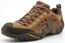 Merrell Intercept Brown Leather vibram soles Hikers Shoes Trainers Size 9 43.5