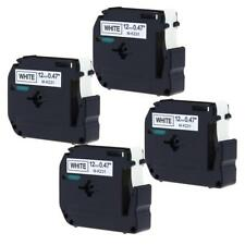 M-M231 MK-231 Compatible for Brother P-touch Label Tape Cartridge 12mm 4pk