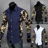 Luxury Men Long Sleeve Slim Fit Shirt Dress Shirts Casual Shirts Fashion Tops H